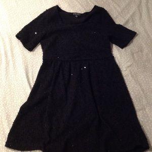 Black Forever 21 skater style dress with sequins